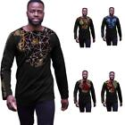 Customized Dashiki Fashion Clothing For African Men Long Sleeve Shirt Male Print