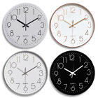 Modern Large Round Non Ticking Wall Clock Digital Silent Sweep Home Office Decor