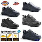 Men's Leather Black Slip Spill Oil - RESISTANT Work Shoes Sn
