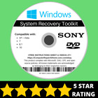 Sony Windows 10 8 8.1 7 Vista XP Recovery Repair Disc USB Reinstall Software DVD