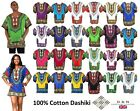 100% Cotton KAFTAN Ladies Men Unisex Dashiki Caftan African Mexican Batik Dress