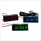 Digital led Uhr clock Temperatur Anzeige Dual thermometer voltmeter 12v Auto