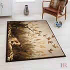 Cabin Rugs – Lodge, Cabin Hunting Accent Area Rug – Desi