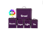 Tea Coffee Sugar Bread Biscuits Vinyl Stickers Kitchen  For Storage Jar Canister