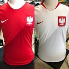 NIKE POLAND WORLD CUP 2018 SOCCER JERSEY HOME or AWAY RED WHITE image