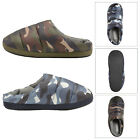 Dunlop Mens Camouflage Mule Slipper Luxury Padded Quilted Slip On Cushioned Shoe