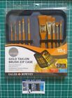 Daler Rowney Artist Brush Zip Up Case & 10 Paint Brushes Acrylic Watercolour Oil