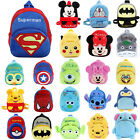 UK Baby Girls Boys 3D Cartoon Animal Plush Backpack Shoulder School Bag Rucksack