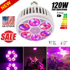 Newest 120W LED Grow Light Bulb Full Spectrum For Greenhouse Plants Growing Lamp