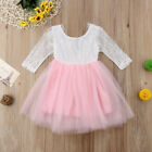 UK Kids Baby Flower Girl Dress Lace Tulle Party Gown Bridesmaid Dresses Sundress <br/> 3-5 Days❤Free Shipping❤Return Back❤High Quality