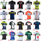 Mens Bike Team Cycling Jersey Clothing Breathable Bicycle Tops 3 Pockets Jerseys