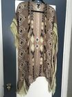 Anthroplogie kimono Or Wrap One Size Brown And Yellow Aztec Pattern