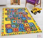 Teaching ABC Blocks Party accent Kids Educational play mat For Nursery Decor Rug