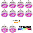 120W LED Grow Light Bulb E27 Full Spectrum for Plant Veg Flower Greenhouse Lamp