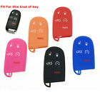 1pc 5-Buttons Silicone Key Fob Shell Cover Case For Jeep Chrysler Dodge Charger $3.82 CAD on eBay
