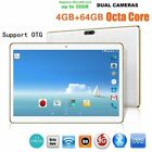 10.1 Inch Tablet PC RAM 4G ROM 64G Dual Card Dual Camera For Android 6.0 PO