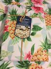 UMBRELLA HOLE TOMMY BAHAMA SWEET LIFE  Pineapple Floral Outdoor Tablecloth NWT