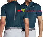 2017-1/2 NIKE TIGER WOODS TW DRY BLUR STRIPE GOLF SHIRT. 854209-454  ARMORY BLUE