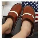 Men Slippers Indoor Winter Genuine Leather Thick Plush Non Slip Thermal Slippers