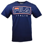 FILA Mens T Shirt S M L 2XL Logo Athletic Sports Apparel ITALIA Tee BLUE NEW image