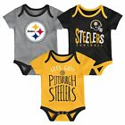 Pittsburgh Steelers Infant Creeper Set NFL Little Tailgater 3-Piece Baby Outfit on eBay