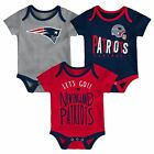 New England Patriots Infant Creeper Set NFL Little Tailgater 3-Piece Baby Outfit $24.0 USD on eBay