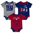 New York Giants Infant Creeper Set NFL Little Tailgater 3-Piece Baby Outfit $24.0 USD on eBay