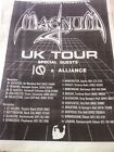 MAGNUM - UK TOUR DATES 1985 - original advert / small poster
