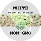 2018 White Fall Onion Bulb Sets - NON-GMO! HEIRLOOM PLANTS, SEEDS. FREE SHIP!