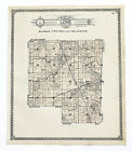 1915 LOVE Illinois Township Map Plats Property Owners Original Hand-Colored Ogle