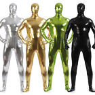 Men Shiny Metallic Tights Zentai Suit Full Body Unitard Halloween Skin Costume