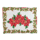Artistic Poinsettia Diamond Pillow Sham with Holly Branches, by Collections Etc