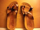 YOKONO sandals 7.5 womens made in Spain Brown Ladybug icon leather uppers