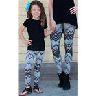 Mom Daughter Matching Skinny Leggings Women Girls Stretchy Pencil Pants Trousers