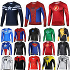 Mens Marvel Compression Armour Base Layer Top Superhero Long Sleeve T-shirt