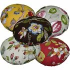 Round Shape Cover*Fine Cotton Canvas Floor Chair Seat Cushion Case Custom Siz*Ai