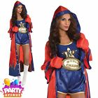 Ladies Boxer Knockout Fancy Dress Costume Sexy Fighter Womens Outfit