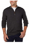 Kirkland Signature Men's Extra Fine Merino Wool ¼ Zip Sweater фото