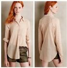 Antropologie Holding Horses Lace Sleeve High Low Casual Shirt S NWOT