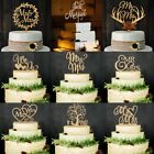 Wooden LOVE MR  MRS Just Married Cake Topper Decor Rustic Wedding Celebration