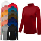 NE PEOPLE Womens Turtleneck Ribbed Detail Long Sleeve Pullover Sweater NEWT390