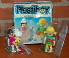 70s VINTAGE PLASTIBOY SIMIL PLAYMOVIL TWO PLANTERS ARTICULATED FIGURES ARGENTINA