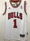 Men's Chicago Bulls NO.1 Derrick Rose Basketball jersey Embroidery White on eBay