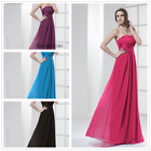 Stock Long chiffon Bridesmaid Formal Ball Gown Party Cocktail Evening Prom Dress