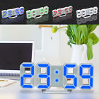 3D LED Modern Digital Table Desk Night Wall Clock Alarm 24/12 Hour Display Elect