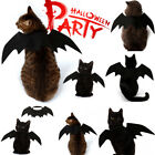 Bat Wing Vampire Black Cute Fancy Dress Up Halloween Pet Dog Cat Costume Gift jc