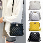 NEW Women Ladies Shoulder Quilted Handbag Gold Chain Faux Le