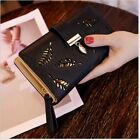 Womens Ladies Envelope Leather Wallet Card Button Clutch Zip Purse Long Handbag