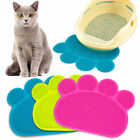 Paw Print Dog Cat Litter Mat Puppy Kitty Dish Feed Bowl Placemat Easy Clean Pad