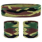 Suddora Camo Sweatband Set - Camouflage Sports Headband & Athletic Wristbands